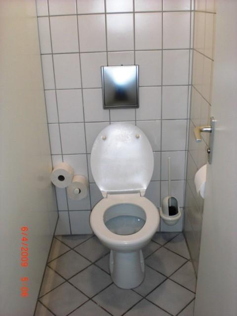 saubere Toilettenkabine